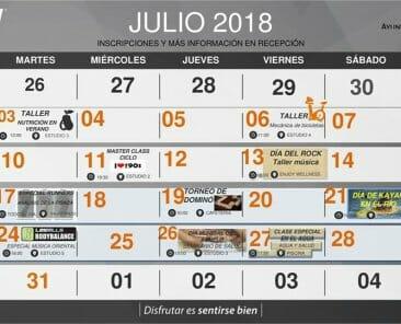 actividades extraordinarias Julio